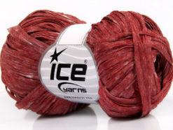 Lot of 6 Skeins Ice Yarns SALE SUMMER (50% Viscose) Yarn Red Melange