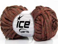 Lot of 8 Skeins Ice Yarns VISCOSE SHINE BULKY (82% Viscose) Yarn Copper Red