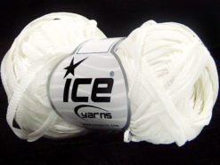 Lot of 8 Skeins Ice Yarns VIOLINO Hand Knitting Yarn White