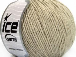 Lot of 8 Skeins Ice Yarns WOOL LIGHT (50% Wool) Hand Knitting Yarn Beige