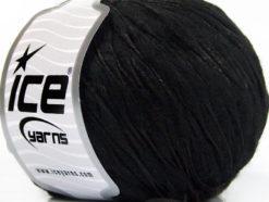 Lot of 8 Skeins Ice Yarns WOOL DROPS (50% Wool) Hand Knitting Yarn Black
