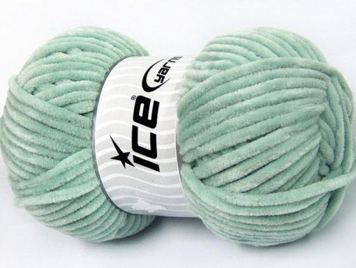 Lot of 4 x 100gr Skeins Ice Yarns CHENILLE BABY (100% MicroFiber) Yarn Light MintGreen