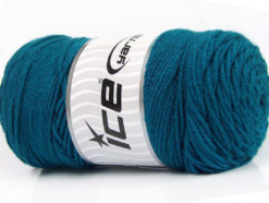 Lot of 2 x 200gr Skeins Ice Yarns SAVER Hand Knitting Yarn Teal