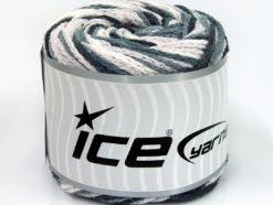 Lot of 2 x 150gr Skeins Ice Yarns CAKES AIR Yarn Black Grey White