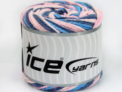 Lot of 2 x 150gr Skeins Ice Yarns CAKES AIR Yarn Blue Shades Pink Shades