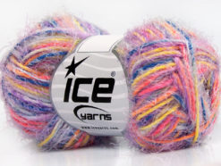 Lot of 8 Skeins Ice Yarns CYCLAMEN Hand Knitting Yarn Lilac Orange Blue Yellow