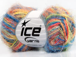 Lot of 8 Skeins Ice Yarns CYCLAMEN Yarn Turquoise Salmon Yellow Orange