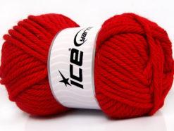 Lot of 4 x 100gr Skeins Ice Yarns ATLAS SUPERBULKY Hand Knitting Yarn Red