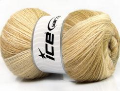Lot of 4 x 100gr Skeins Ice Yarns ANGORA BATIK (20% Angora 20% Wool) Yarn Camel Beige