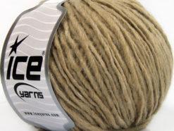Lot of 8 Skeins Ice Yarns WOOL CORD ARAN (50% Wool) Yarn Light Camel