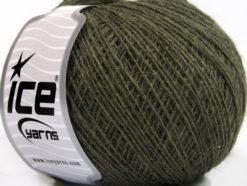 Lot of 8 Skeins Ice Yarns WOOL CORD SPORT (50% Wool) Hand Knitting Yarn Khaki
