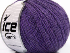 Lot of 8 Skeins Ice Yarns WOOL CORD SPORT (50% Wool) Hand Knitting Yarn Lilac