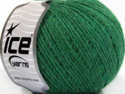 Lot of 8 Skeins Ice Yarns WOOL CORD SPORT (50% Wool) Hand Knitting Yarn Green