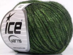 Lot of 8 Skeins Ice Yarns ROCK STAR (19% Merino Wool) Yarn Green Black