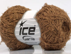 Lot of 8 Skeins Ice Yarns ALLORO COTTON (80% Cotton) Yarn Light Brown