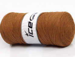 250 gr ICE YARNS JUMBO COTTON RIBBON (100% Recycled Cotton) Yarn Light Brown