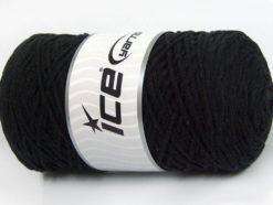 250 gr ICE YARNS MACRAME COTTON (100% Cotton) Hand Knitting Yarn Black