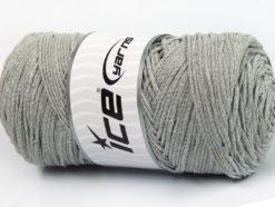 250 gr ICE YARNS MACRAME COTTON BULKY (100% Cotton) Yarn Light Grey