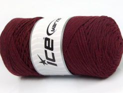 250 gr ICE YARNS MACRAME COTTON (100% Cotton) Hand Knitting Yarn Burgundy