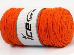 250 gr ICE YARNS MACRAME COTTON BULKY (100% Cotton) Hand Knitting Yarn Orange