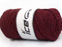 250 gr ICE YARNS MACRAME COTTON BULKY (100% Cotton) Hand Knitting Yarn Burgundy