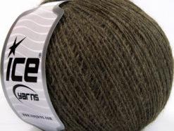 Lot of 8 Skeins Ice Yarns WOOL CORD SPORT (50% Wool) Hand Knitting Yarn Brown