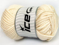 Lot of 2 x 200gr Skeins Ice Yarns ATLAS JUMBO Hand Knitting Yarn Cream
