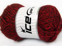Lot of 2 x 200gr Skeins Ice Yarns ATLAS JUMBO Hand Knitting Yarn Red Black