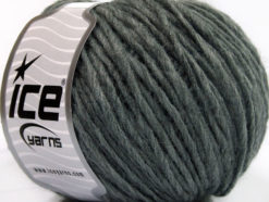 Lot of 8 Skeins Ice Yarns ACRYL CORD WORSTED Hand Knitting Yarn Grey