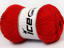 Lot of 4 x 100gr Skeins Ice Yarns BABY COTTON 100GR (100% Giza Cotton) Yarn Red