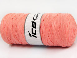 250 gr ICE YARNS JUMBO COTTON RIBBON (100% Recycled Cotton) Yarn Light Salmon