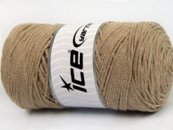 250 gr ICE YARNS MACRAME COTTON (100% Cotton) Hand Knitting Yarn Dark Beige