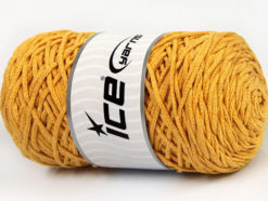 250 gr ICE YARNS MACRAME COTTON BULKY (100% Cotton) Hand Knitting Yarn Gold
