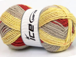 Lot of 4 x 100gr Skeins Ice Yarns DESIGN WOOL WORSTED (30% Wool) Yarn Beige Yellow Copper