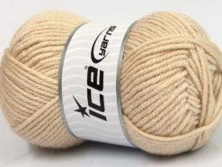 Lot of 4 x 100gr Skeins Ice Yarns ALPACA CLASSIC BULKY (25% Alpaca 25% Wool) Yarn Light Beige