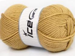 Lot of 4 x 100gr Skeins Ice Yarns ALPACA CLASSIC BULKY (25% Alpaca 25% Wool) Yarn Cafe Latte
