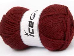 Lot of 4 x 100gr Skeins Ice Yarns ALPACA CLASSIC BULKY (25% Alpaca 25% Wool) Yarn Burgundy