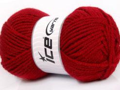 Lot of 4 x 100gr Skeins Ice Yarns ALPACA CLASSIC BULKY (25% Alpaca 25% Wool) Yarn Red