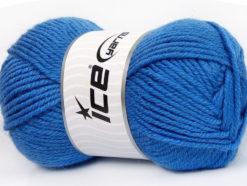 Lot of 4 x 100gr Skeins Ice Yarns ALPACA CLASSIC BULKY (25% Alpaca 25% Wool) Yarn Blue