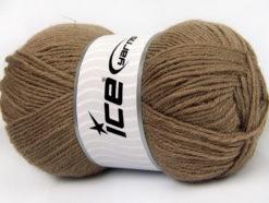 Lot of 4 x 100gr Skeins Ice Yarns ALPACA CLASSIC (25% Alpaca 25% Wool) Yarn Dark Camel