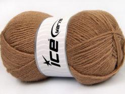 Lot of 4 x 100gr Skeins Ice Yarns ALPACA CLASSIC (25% Alpaca 25% Wool) Yarn Camel