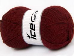 Lot of 4 x 100gr Skeins Ice Yarns ALPACA CLASSIC (25% Alpaca 25% Wool) Yarn Burgundy