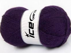 Lot of 4 x 100gr Skeins Ice Yarns ALPACA CLASSIC (25% Alpaca 25% Wool) Yarn Purple