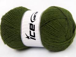 Lot of 4 x 100gr Skeins Ice Yarns ALPACA CLASSIC (25% Alpaca 25% Wool) Yarn Dark Green