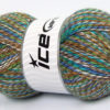 Lot of 4 x 100gr Skeins Ice Yarns BABY MIX Yarn Brown Shades Turquoise White Lilac