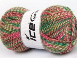 Lot of 4 x 100gr Skeins Ice Yarns BABY MIX Yarn Pink Shades Camel Green Shades