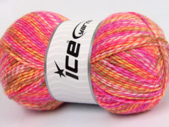 Lot of 4 x 100gr Skeins Ice Yarns BABY MIX Yarn Pink Shades Lilac Light Olive Green White