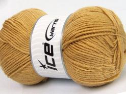 Lot of 4 x 100gr Skeins Ice Yarns CLASSIC ARAN Hand Knitting Yarn Cafe Latte