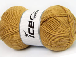 Lot of 4 x 100gr Skeins Ice Yarns CLASSIC ARAN Hand Knitting Yarn Light Brown