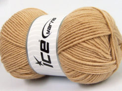 Lot of 4 x 100gr Skeins Ice Yarns CLASSIC ARAN Hand Knitting Yarn Dark Beige